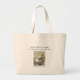 "Grand Tote Bag Thomas ""Tom aveugle"" Wiggins, 1861"