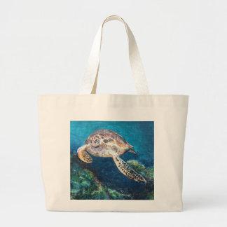 Grand Tote Bag Tortue et un récif coralien