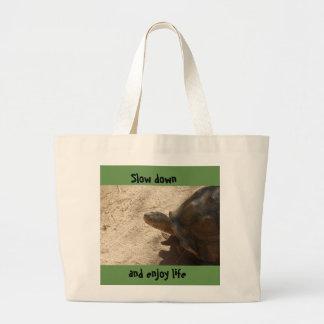 Grand Tote Bag Tortue fourre-tout de ralentissement