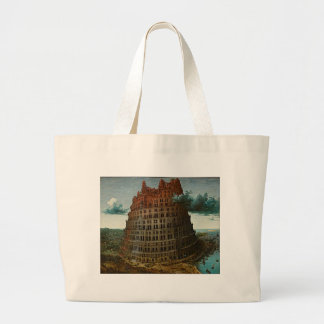 Grand Tote Bag Tour de la peinture de Babel