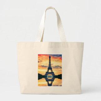 Grand Tote Bag Tour Eiffel Paris même le voyage européen
