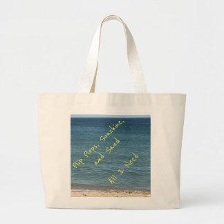 Grand Tote Bag Tous que j'ai besoin