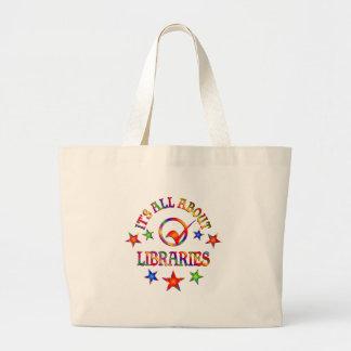 Grand Tote Bag Tout au sujet des bibliothèques