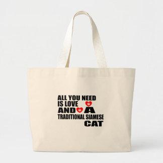 GRAND TOTE BAG TOUT QUE VOUS AVEZ BESOIN EST CAT SIAMOIS