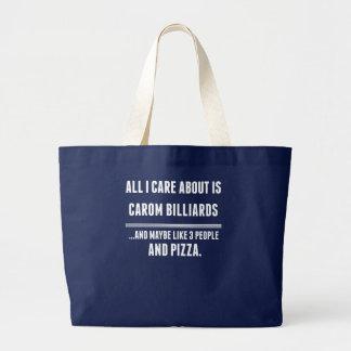 Grand Tote Bag Tout soin d'I est environ des sports de billards