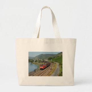 Grand Tote Bag Train de marchandises dans les Lorch au Rhin