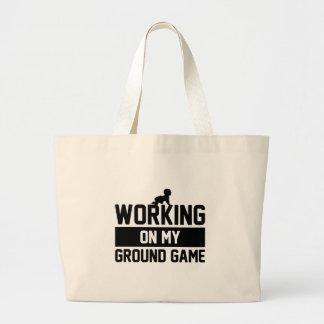 Grand Tote Bag Travailler au jeu au sol