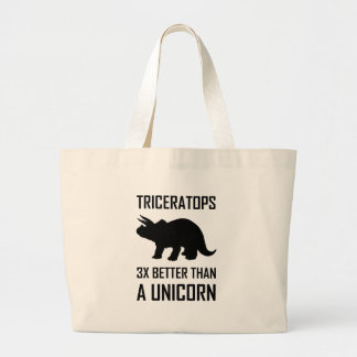 Grand Tote Bag Triceratops meilleur que la licorne