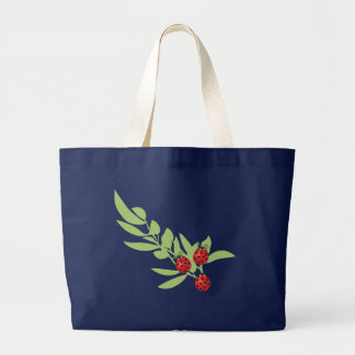 Grand Tote Bag Trois coccinelles chanceuses