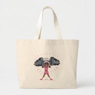Grand Tote Bag trouvez votre arrière - plan de strengths_no