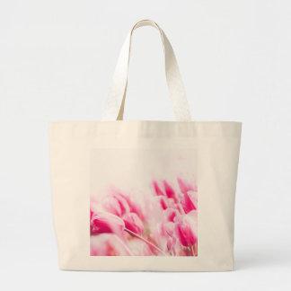 Grand Tote Bag Tulipes roses