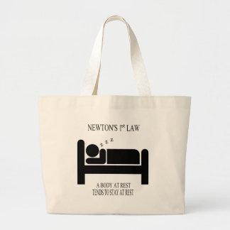Grand Tote Bag Un corps tend au repos à rester au repos la loi de