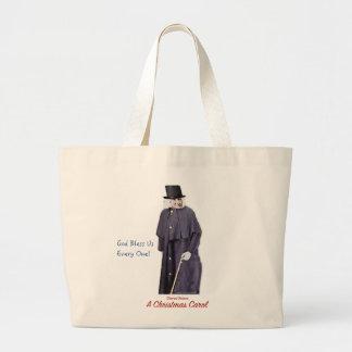 Grand Tote Bag Un grippe-sou de chant de Noël