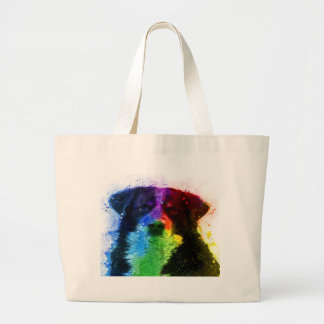 Grand Tote Bag Un plus grand bloc de couleur de chien de montagne