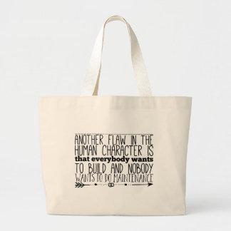 Grand Tote Bag Une autre faille dans le caractère humain est