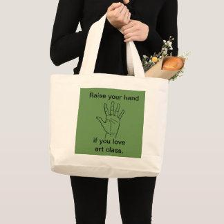 Grand Tote Bag Une déclaration pour célébrer la classe d'art !