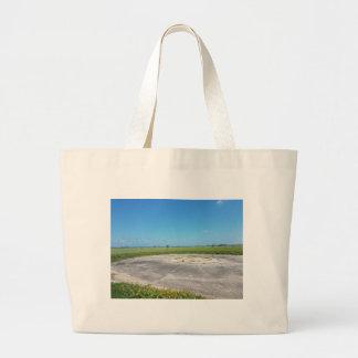 Grand Tote Bag une plaine herbeuse