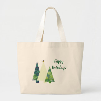 Grand Tote Bag Vacances d'arbres de Noël de trois Crafter à la