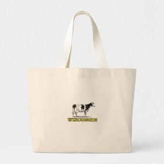 Grand Tote Bag Vache laitière du Wisconsin