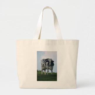 Grand Tote Bag Vache laitière noire et blanche du Vermont
