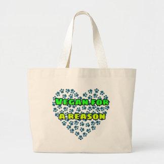 Grand Tote Bag Végétalien pour une raison