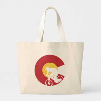 Grand Tote Bag Vélo de montagne le Colorado