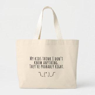 Grand Tote Bag Vérités de Parenting