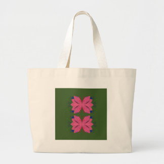 Grand Tote Bag Vert de rose d'éléments de conception