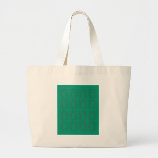 Grand Tote Bag Vert d'eco d'éléments de conception