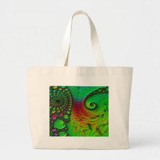 Grand Tote Bag Vert d'imaginaire