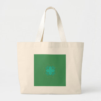 Grand Tote Bag Vert Eco de mandala de conception
