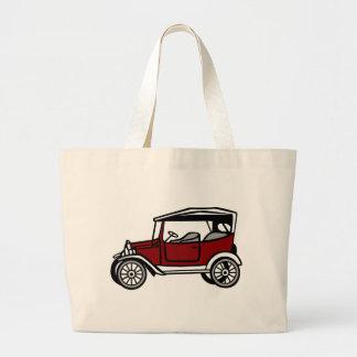 Grand Tote Bag Vieille automobile antique de véhicule