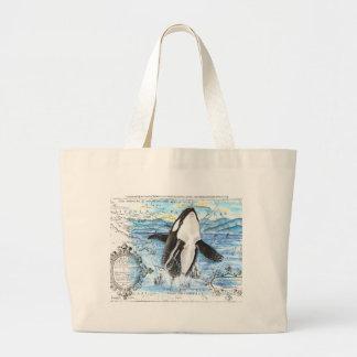 Grand Tote Bag Violation de la carte antique d'orque