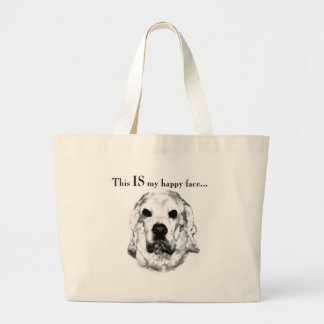 Grand Tote Bag Visage heureux de cocker