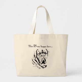 Grand Tote Bag Visage heureux de Dogue