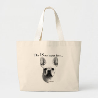 Grand Tote Bag Visage heureux de Frenchie