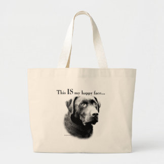 Grand Tote Bag Visage heureux de laboratoire