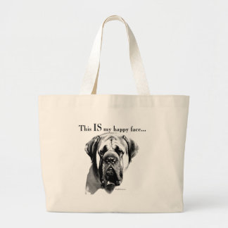 Grand Tote Bag Visage heureux de mastiff