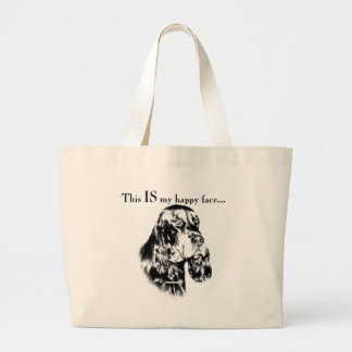 Grand Tote Bag Visage heureux de poseur de Gordon
