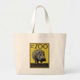 Grand Tote Bag Visitez le zoo de Philadelphie
