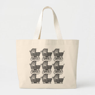 Grand Tote Bag Voiture d'enfant vintage