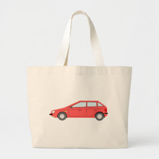 Grand Tote Bag Voiture rouge