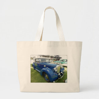 Grand Tote Bag Voiture vintage bleue