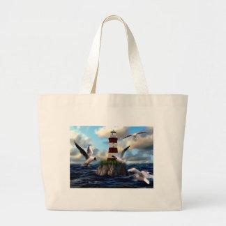 Grand Tote Bag Voler d'oiseaux de phare