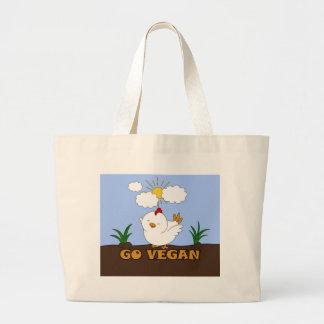 Grand Tote Bag Vont le végétalien - poussin mignon