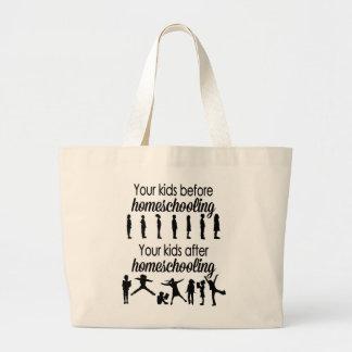 Grand Tote Bag Vos enfants avant et après Homeschooling