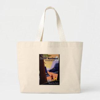 Grand Tote Bag Voyage vintage Pacifique du nord-ouest