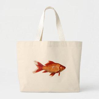 Grand Tote Bag Vrai poisson rouge