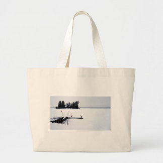 Grand Tote Bag Vue de bord du lac