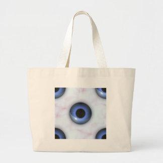 Grand Tote Bag yeux bleus déplaisants